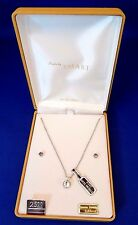 NIB Vintage Styles by Smart 1 CT Dentelle Necklace Sterling Chain & Earrings