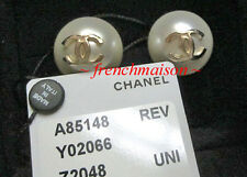 AUTHENTIC CHANEL CC Logo Earrings Huge XL Pearl Classic Gold New 2016 $645.99