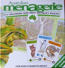 AUSTRALIAN MENAGERIE BOARD GAME ABOUT AUSTRALIA'S WILDLIFE + 3 ADD ON PACKS