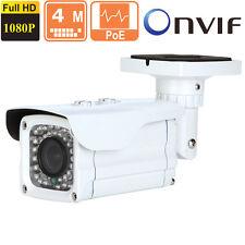 4MP  IP Bullet Camera 2.8-12mm  Vari-foca Outdoor 1080p  POE ONVIF 42 IR Leds