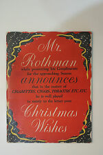 RARE ROTHMAN XMAS CATALOGUE 1950 GREAT CONDITION, FASCINATING! 40 PAGES OF GIFTS