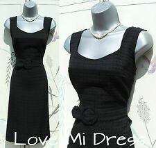 50's Pencil Wiggle Secretary/Evening Dress Sz 12 EU40