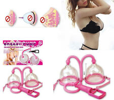 Female Dual Breast Bust Vacuum Pump Suction Massager Enlarger Enhancer to D Cup