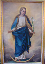 Our Lady of the Immaculate Conception 19th Century oil
