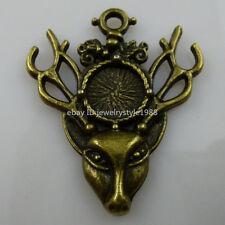 10372 10PCS Protect Animal Refused to Deer Antler Horn Deer Head Crafts Pendant