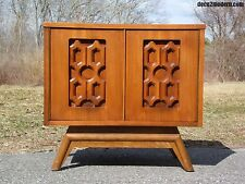 Mid Century Modern Sculptural Night Stand Storage Cabinet End Table Young Mfg