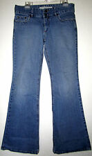 EXPRESS PRECISION FIT SEFFARO Stretch Low Rise Flare Leg Cut Fray Pant JEANS 8 R