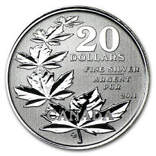 2011 1/4 oz Silver Canadian $20 Maple Leaf Commemorative