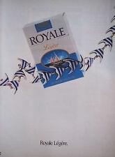 PUBLICITÉ 1991 ROYALE LÉGÈRE CIGARETTE - POISSON - ADVERTISING
