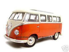 1963 VW VOLKSWAGEN MICROBUS T1 BUS RED 1/18 DIECAST MODEL CAR BY WELLY 12531