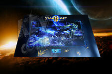 "2015 Blizzcon Starcraft 2 Legacy Of The Void 24""x36"" Poster - SIGNED BY DEVS"