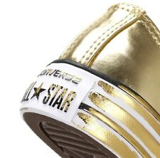 NEW Womens Converse Chuck Taylor All Stars Gold Trainers Ltd Edition RRP£79.99