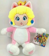 SUPER MARIO 3D WORLD - PEACH GATTO PELUCHE - 21Cm. - Plush Cat Principessa Neko