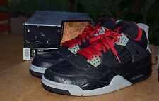 DS 2005 NIKE RARE AIR JORDAN 4 IV BLACK LASER size 13 BLACK RED