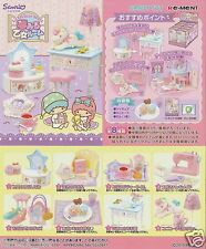 New Arrival  Re-ment Sanrio Miniature Little Twin Stars Dream Girl Room 8 PCS