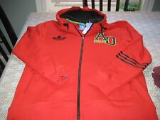 MENS Adidas Originals AO  FULL ZIP Hoodie XL EXTRA LARGE  Red/Black  NWT