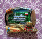 TOURIST SOUVENIR Resin 3D FRIDGE MAGNET ------ Sunny Beach of BALCHIK , Bulgaria