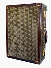 Rare Fendi Hard-Sided Travel Trunk Suitcase Zucca Pattern Vintage 1980s