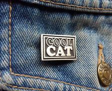 Cool Cat Pewter Pin Badge