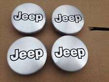 NEW SET OF 4 JEEP ALUMINIUM BLACK WHEEL HUB EMBLEM LOGO COVER CAPS 52059522AA