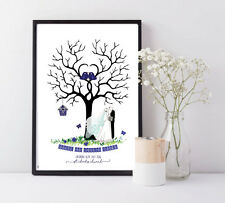WEDDING GUESTBOOK ALTERNATIVE - FINGERPRINT TREE - FULLY PERSONALISED