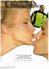 PUBLICITE ADVERTISING 095  1994  DIOR   eau de toilette TENDRE POISON