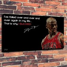 Basketball Michael Jordan Print Oil Painting on Canvas Home Decor (Unframed)