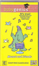 PAL VHS VIDEO TAPE :  ABC FOR BABIES, BABY GENIUS, MOZART & FRIENDS