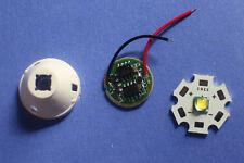 Cree XM-L LED T6 White Light + 3.7V Driver + Lens with Base Holder