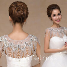 Luxury Crystals Beading Wedding Shrug Wrap Rhinestones Bridal Bolero Jackets
