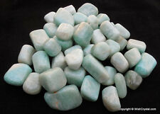 TUMBLED - (4) Small AMAZONITE Crystals Healing Stone Reiki