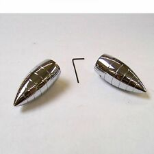 NICE Bullet Wiper Caps Covers vintage hot rat rod windshield wiper kit knurl lot