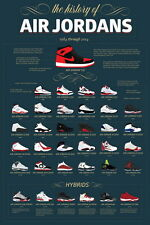 "287 Michael Jordan Shoes - MJ 23 Chicago Bulls NBA MVP Basketball 14""x21"" Poster"