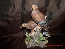 "Mourning Doves Andrea by Sadek Japan 9.5"" Porcelain Figurine"