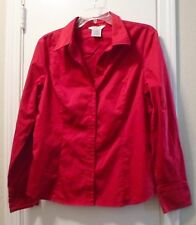 STRETCH RED BUTTON DOWN SHIRT SIZE XL 16-18