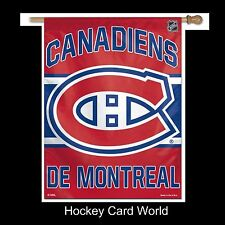"(HCW) Montreal Canadiens Licensed Vertical Flag 27"" x 37"" Inside Outside"