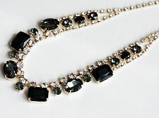 Fashion Jewelry Faceted Crystal with Rose Gold Plated Bib Necklace