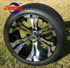 "GOLF CART 14"" VAMPIRE WHEELS and 205/30-14 DOT LOW PROFILE TIRES (4)"