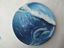 Coalport Surf School Plate - Magical Dolphins Collection by Robin Koni