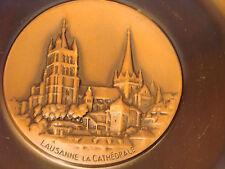 Lausanne La Cathetrale, Kupferteller, Reliefteller, Wandteller,