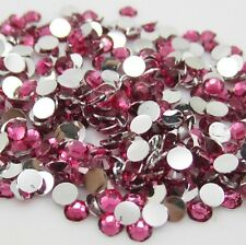 Diy 600pcs 5mm Facets Resin Rhinestone Gems Flat Back Crystal beads art Rose ZS1