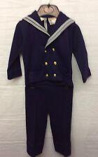 Período de Niños Azul Marino Militar Disfraz para teatro de escenario/o Vestido de fantasía - 3/4 años