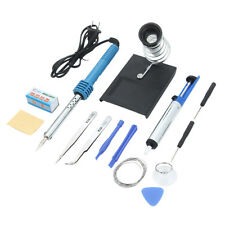 14in1 Electric Desolder Pump Soldering Iron Kit Set w/ Iron Stand Tools 110