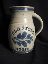 OLD STONE HOUSE STONEWARE PITCHER - ARTIST SIGNED