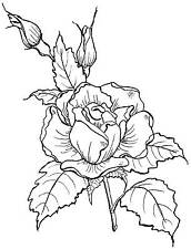 Large Rose Unmounted Rubber Stamp - 7156