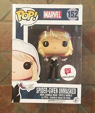 Marvel Funko Pop UNMASKED SPIDER-GWEN Walgreens Exclusive #152 Spider-Man figure