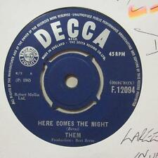 "Them (7"" Vinyl 1st Issue)Here Comes The Night / All For Myself-UK-Ex/VG"