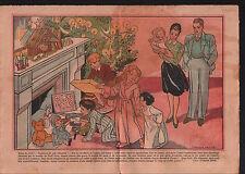 Sapin  Noël Cheminée Crèche Jésus Salon Jouets Enfants France 1946 ILLUSTRATION