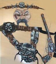 PIRATE ACCESSORY KIT Mask Headband Skeleton Hand Skull Belt Toy Gun Weapon
