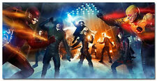The Flash vs Arrow TV Series Silk Fabric Poster 20x40inch 009